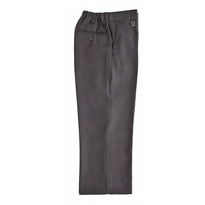 Zeco Boys Waist Adjustable Trousers In Grey School Uniform Trouser