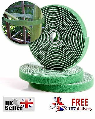 REUSABLE HOOK & LOOP TIE TAPE Plant Shrub Flower Ties 3 ROLLS Velcro Garden