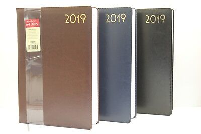 2019 A5 Or A4 Quality Soft Padded 'week To View Or Day A Page' Diary & Planner.