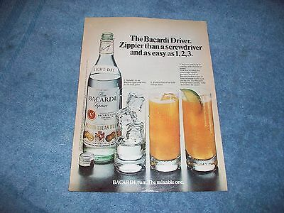 "1975 Bacardi Rum Vintage Ad ""Bacardi Rum. The Mixable One"""