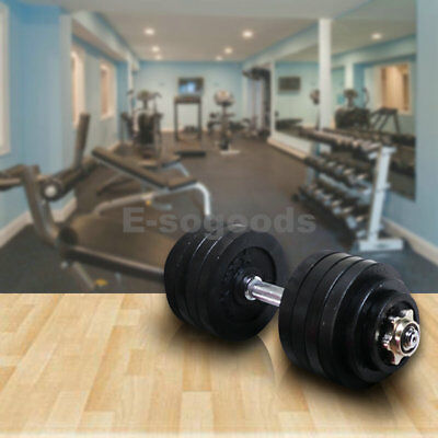 50lb 52.5lb Chrome Silver Plated Single Adjustable Weights Dumbbell Set