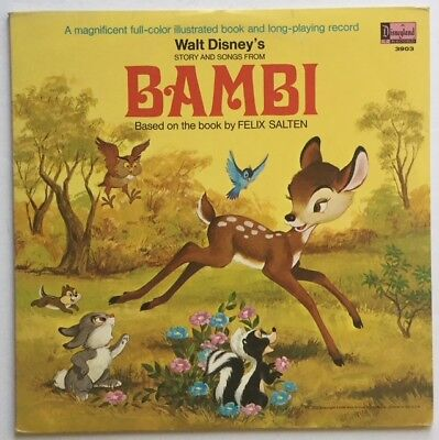 """Disney Record Walt Disney's Story and Songs From """"Bambi""""- PA-ST-3903 - (M-)"""