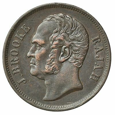 Sarawak Km#3 1863 Cent Great Looking Copper Coin [873.57]