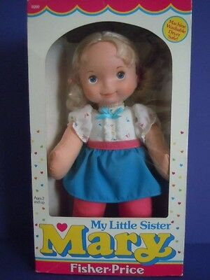 """Rare New In Box Vintage 1984 Fisher- Price """" Mary My Little Sister Doll 13 Inch"""