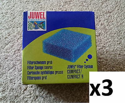 Genuine Juwel Compact Bioflow 3.0 Coarse Filter Media Sponge x 3