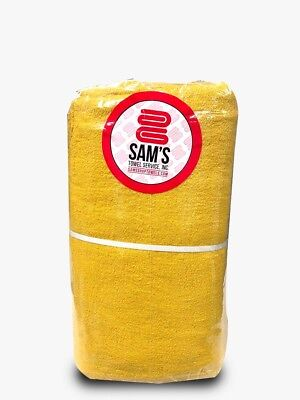 Domestic Dyed and Bleached Shop Towels - Yellow - Heavy Duty - 175lbs/dzn