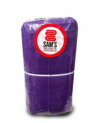 Pack Of 100 Brand New Royal/purple Shop Towels For Industrial Use (100% Cotton)
