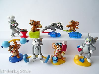 Collectible Complete Set figures  TOM & JERRY Beach Kinder Surprise 2003