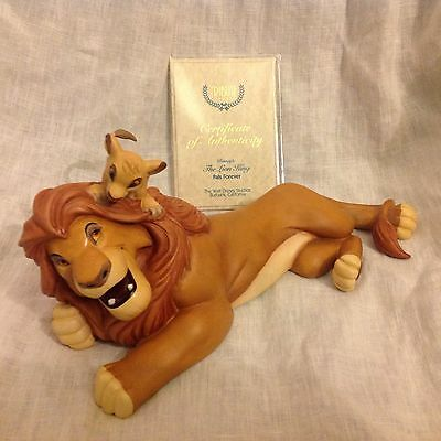 RARE Disney WDCC The Lion King FOREVER PALS Figurine-MIB w/ COA