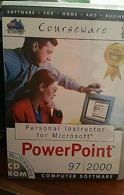 Personal Instructor Microsoft Powerpoint 97/2000 PC CD ROM - FREE POST
