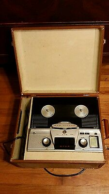 1957 Rca Victor Reel To Reel Mid Century Tube Type Recorder Model 7 Tr2
