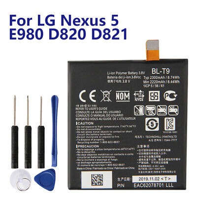New Replacement Battery BL-T9 For LG Nexus 5 E980 Nexus G D820 D821 BLT9 2300mAh