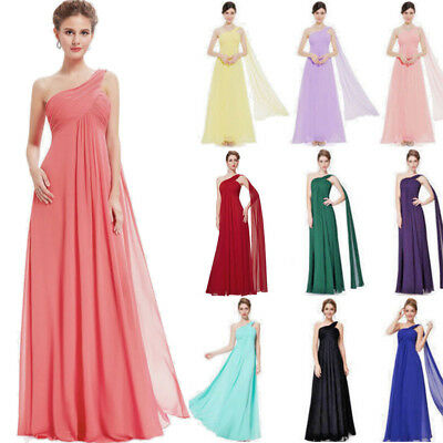 New Long Chiffon Evening Formal Party Ball Gown Prom Bridesmaid Dress AU Stock