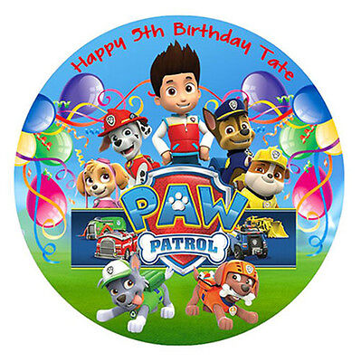 PAW Patrol Edible Wafer Paper Party Cake Decoration Topper Image