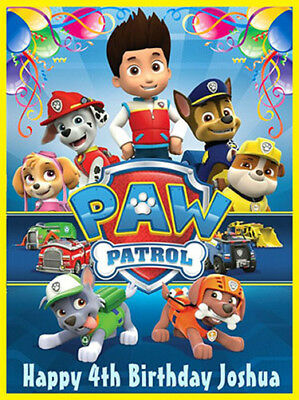 PAW Patrol Edible Wafer Paper Party Birthday Cake Decoration Topper Image