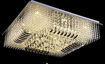 crystal ceiling Curtain Pendant chandelier Fixture hang led light lamp hall d1