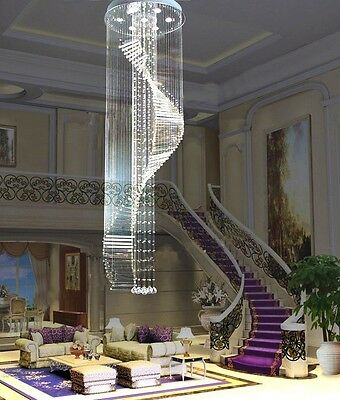 Crystal Ceiling Lamp hang light Fixture Curtain Pendant Chandelier hall led home