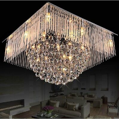 Crystal Ceiling led Lamp light Fixture Curtain hang Pendant Chandelier hall s1