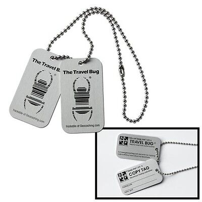 Official Dog Tag Travel Bug For Geocaching - Huge Multi-Buy Savings