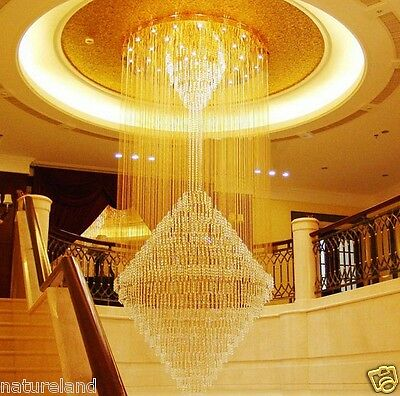 crystal chandelier led light hang Ceiling Fixture Curtain Pendant hall lamp L31
