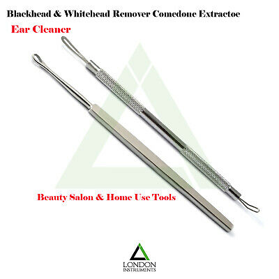Comedone Extractor Acne Blemish, Ear Cleaner Surgical Tool Stainless Steel