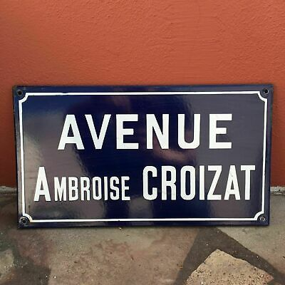 Old French Street Enameled Sign Plaque - vintage croizat 4