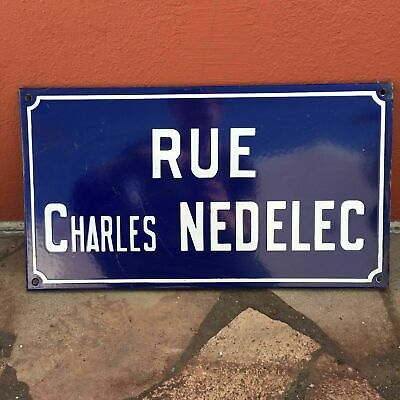 Old French Street Enameled Sign Plaque - vintage nedelec 2