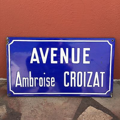 Old French Street Enameled Sign Plaque - vintage croizat 5