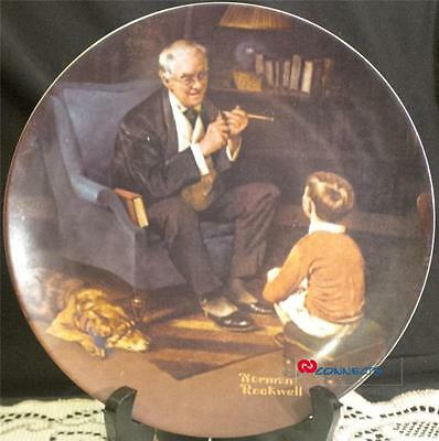 Edwin M Knowles Norman Rockwell The Tycoon Plate