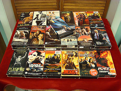 VHS - Lot of 23 Action & Adventure VHS Films
