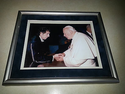 Bob Dylan Framed Art Pope John Paul Authentic Press Photo Matted Unique 12X10