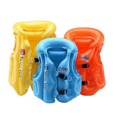 Inflatable Swimming Pool Vest Children Kids Float Aid Jacket Baby Training Beach