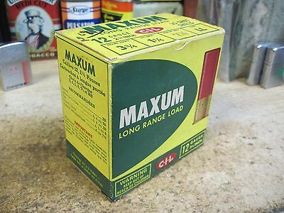 ORIGINAL C I L MAXUM FIELD LOAD EMPTY PAPER shot shell box 12 gauge 7  shotgun