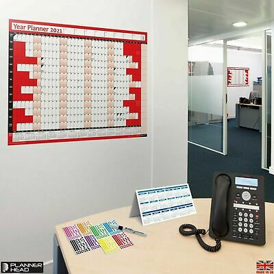 2018 A1 Large Year Wall Planner for Home/office work unmounted calendar