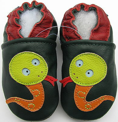 ✿ CHAUSSONS BEBE CUIR SOUPLE CAROZOO NEUF (serpent) ✿