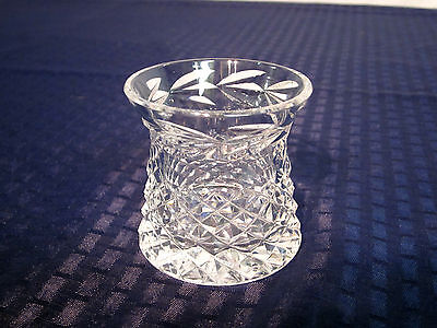 Waterford Crystal Toothpick/Cigarette Holder. Glandore. 1976-. NICE.