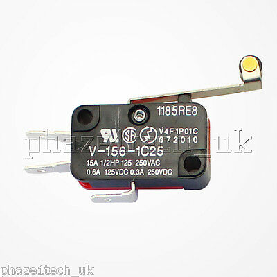 Hinge Roller Lever Micro Switch Snap Action 15A 240V