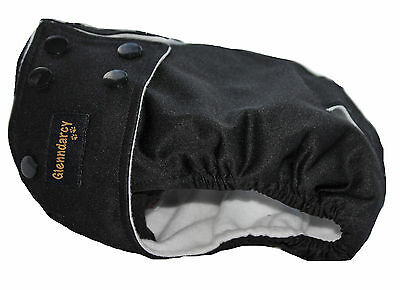 Glenndarcy Black Female Waterproof Dog Nappy / Heat / Urine Incontinence