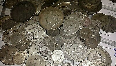 $1.25 Face Value 90% U.S.Silver Coin Lot Dollars Half Dollars Quarters Or Dimes