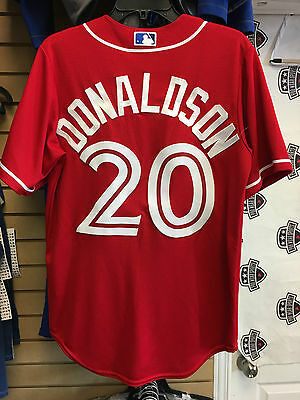 Josh Donaldson Toronto Blue Jays Large 2016 Cool Base Canada Day Jersey