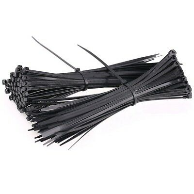 3Mm-9Mm Black Nylon Cable Ties / Zip Ties For Fastening Cables & Wires