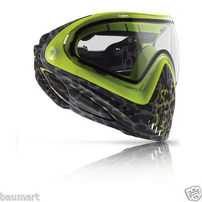 Dye I4 Pro Thermal Skinned LIME Paintball Maske Google Airsoft PaintNoMore 1902