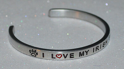 I Love My Irish Setter  | Engraved not Hand Stamped