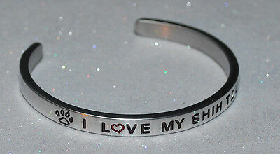 I Love My Shih Tzu  | Engraved not Hand Stamped