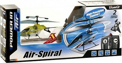Silverlit Air Spiral 2 Channel Control Remote Control Helicopter Green *new*