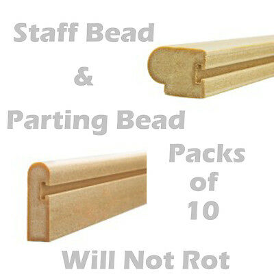 Sash Window Parting Bead & Staff Bead Natural 10 x 3mtr Pack Composit Wood