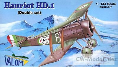 VALOM 14411 Hanriot HD.1 (Double Set) 1:144