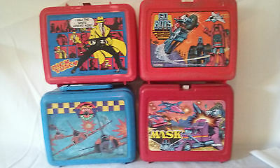 Vintage   Lot Of Four 1980S   Plastic   Lunchboxes==Instant Collection==