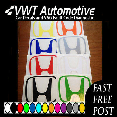H Honda VARIOUS Colours Centre Cap Stickers Decals R S DC5 ACCORD S2000 Civic