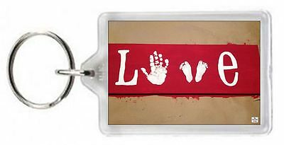 Cute Baby Feet Hand Foot Paint Valentine Love Quote Saying Gift Present Novelty